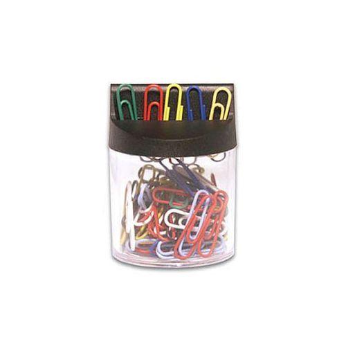 Spinacze kolorowe 26mm w pudełku magnetycznym e&d plastic 100szt. 61249 marki Victory
