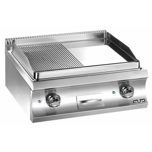 Płyta grillowa elektryczna podwójna nastawna1/2 gładka+1/2 ryflowana| linia Domina 700 | 8000W | 700x730x(H)250 mm