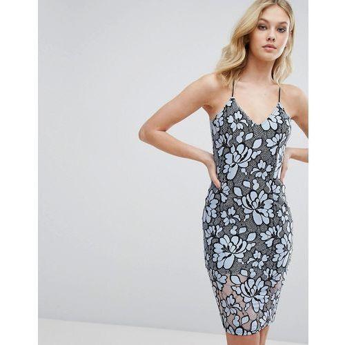 Missguided Lace Midi Dress - Blue