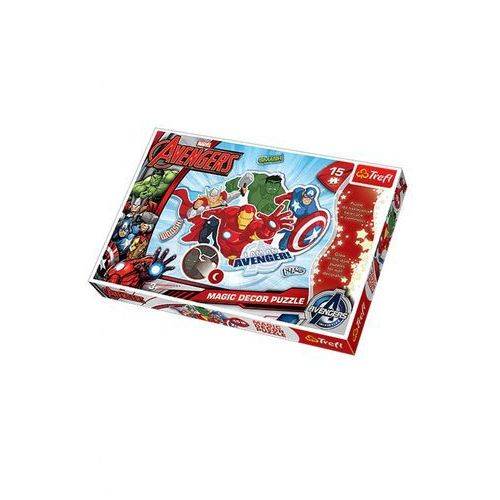 Puzzle 15 magic decor. avengers puzzle swiecace w ciemnosci marki Trefl