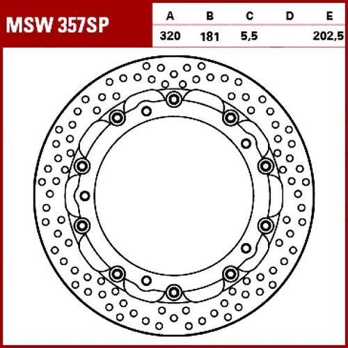 tarcza hamulcowa msw357sp bmw s 1000 rr abs 99 marki Trw