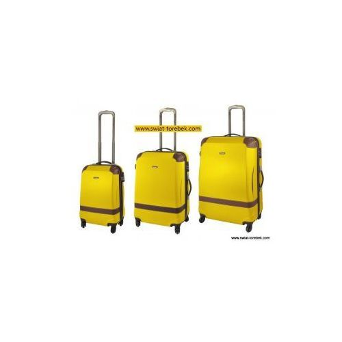 Komplet walizek DIELLE model 210 zestaw duża + średnia + mała/ kabinowa 4 koła materiał ABS zamek szyfrowy TSA