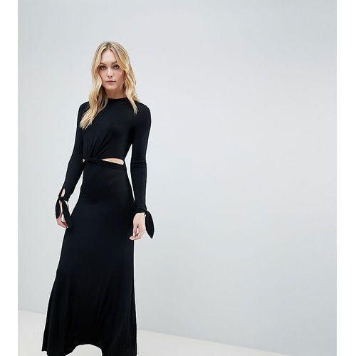 Asos design tall maxi dress with long sleeve and cut outs - black, Asos tall