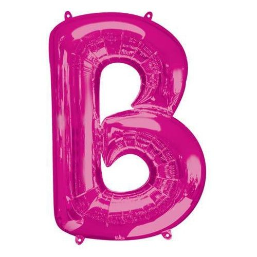Balon foliowy różowa litera b - 58 x 86 cm - 1 szt. marki Amscan