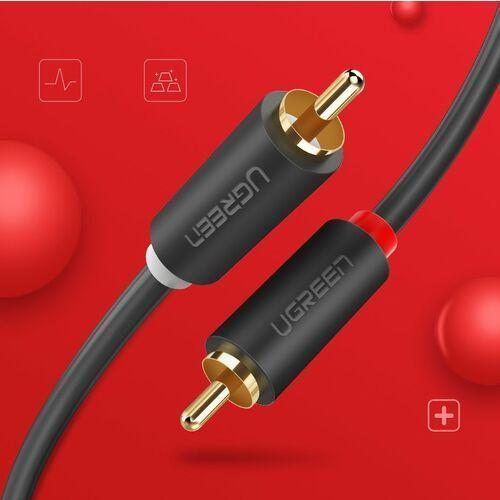 kabel przewód stereo audio wideo 2rca 2x cinch 2m szary (10518) - 2 marki Ugreen