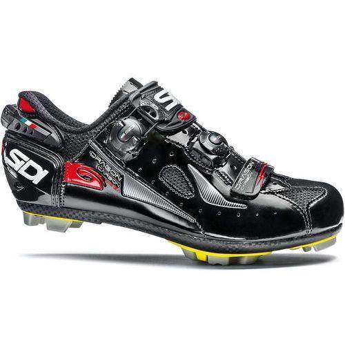 dragon 4 carbon srs mega buty mężczyźni czarny 46 2018 buty mtb zatrzaskowe marki Sidi