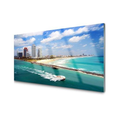 Panel Kuchenny Morze Plaża Miasto Krajobraz