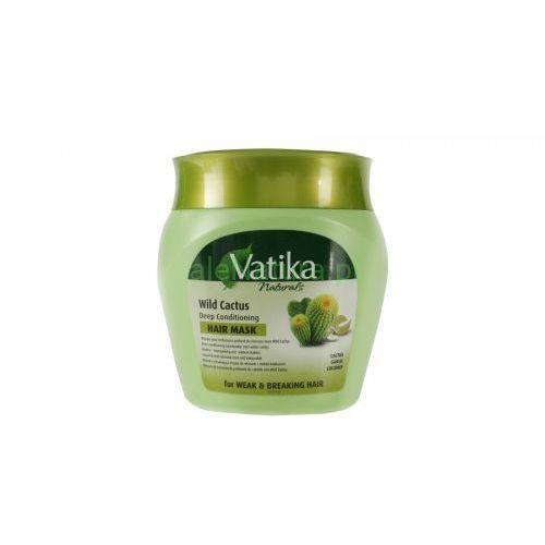 Maska do włosów Dziki Kaktus Vatika 500ml Dabur - włosy wypadające i łamliwe, 5022496005388