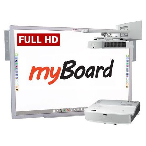 Zestaw interaktywny silver full hd lux 100 panorama marki Myboard