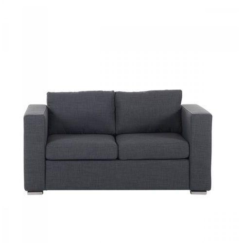 Blmeble Sofa ciemnoszara - dwuosobowa - kanapa - sofa tapicerowana - gabriele