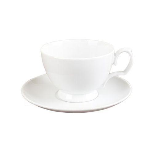 biała filiżanka do herbaty porcelanowa marki Chodzież
