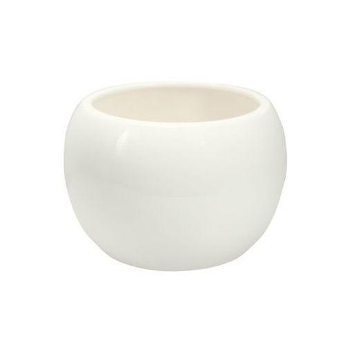 Eko-ceramika Doniczka ceramiczna 16 cm biała kula 4 j15