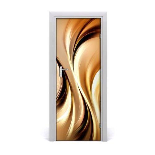 Naklejka samoprzylepna na drzwi Abstrakcyjne fale