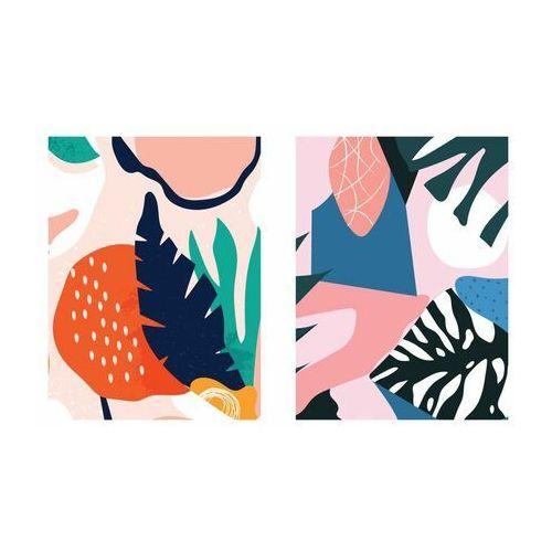 Zestaw 2 plakatów Tropical Abstract 30 x 40 cm (5901844248182)