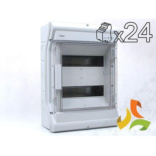 Hager Rozdzielnica,rozdzielnia elektryczna 24-mod. vector ii ip65 hermetyczna ve212l