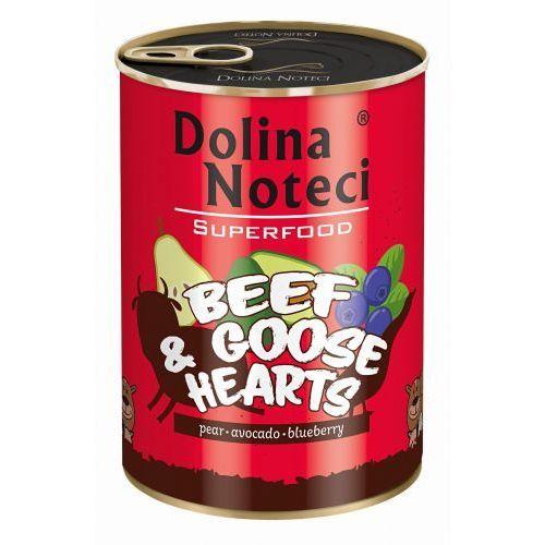 Dnp super food wołowina i serca z gęsi 400g- natychmiastowa wysyłka, ponad 4000 punktów odbioru! marki Dolina noteci