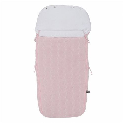 Baby's only , cable baby pink, śpiworek do wózka, jasnoróżowy