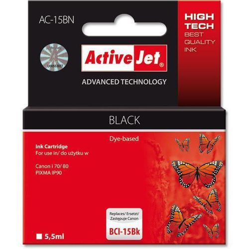 ActiveJet AC-15BN (zamiennik BCI-15BK) - produkt w magazynie - szybka wysyłka!, kolor Black