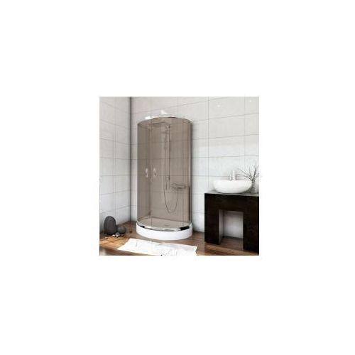 STYLIO Zestaw kabina przyścienna 100x80x190 + brodzik + syfon, szkło brązowe z powłoką CleanGlass BKZ501XB+ * WYSYŁKA GRATIS