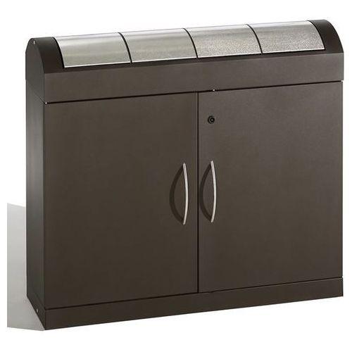 Stumpf-metall System pojemników na surowce wtórne, korpus w kolorze szaro-brązowym, klapy ze s