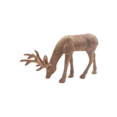 Figurka jeleń 18 cm złoty (5901292692476)