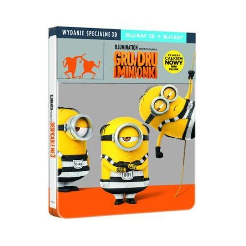 Filmostrada Gru, dru i minionki 3d. steelbook (2bd) - OKAZJE