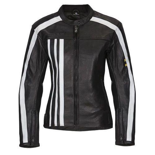 Damska skórzana kurtka motocyklowa W-TEC NF-1173, Czarno-biały, S, skóra