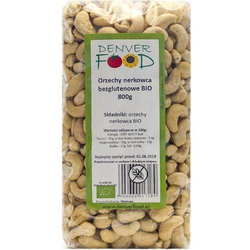 Orzechy nerkowca bezglutenowe bio 800 g marki Denver food