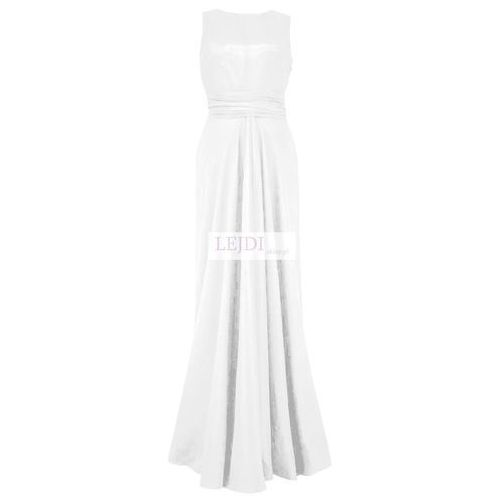Wieczorowa luźna długa sukienka, biały - mon 193