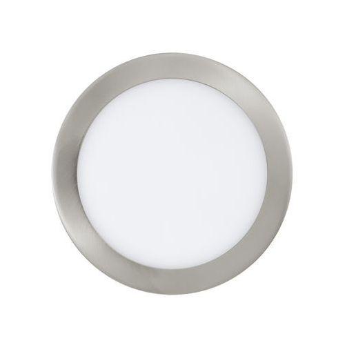 Plafon lampa oprawa wpuszczana downlight oczko Eglo Fueva 1 1x18W LED nikiel mat / biały okr.31676
