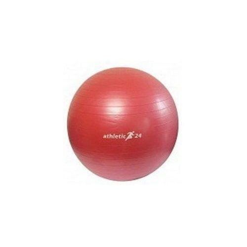 ATHLETIC24 Antiburst 75 czerwona - Piłka fitness - Czerwony