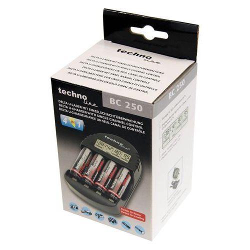 Mikroprocesorowa ładowarka bc-250 do akumulatorów nicd oraz nimh marki Technoline