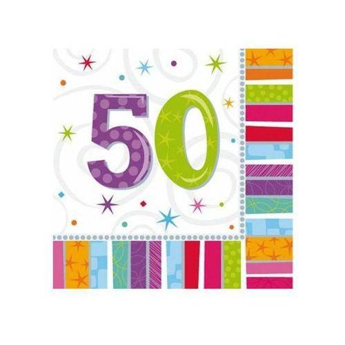 Serwetki urodzinowe na 50 urodziny - 33 cm - 16 szt. marki Amscan