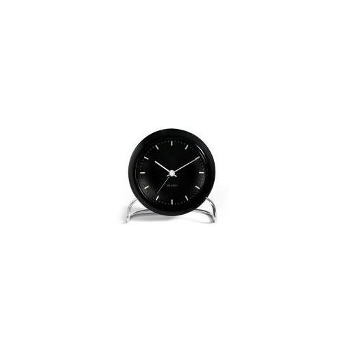 Zegar stołowy Arne Jacobsen City Hall czarny, 43673
