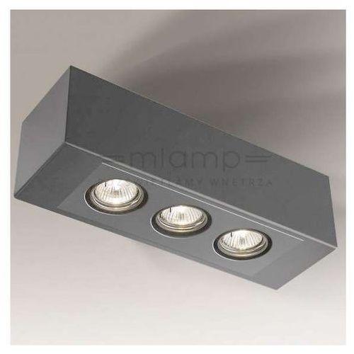 Regulowana LAMPA nastropowa SETO H 1216/GU10/SZ Shilo metalowa OPRAWA prostokątna spot szary