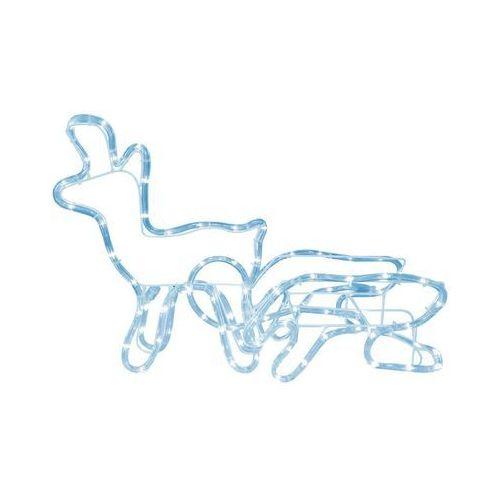 Cortina Renifer z saniami 3d 41 x 85 cm led (5907520021520)