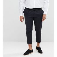 Noak plus size smart tapered chino - black
