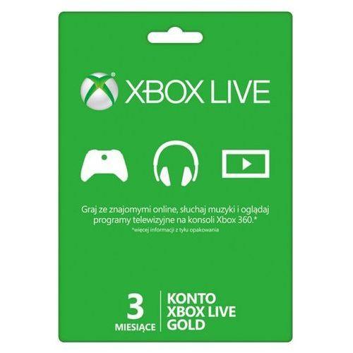 Karta zdrapka Xbox Live 3 miesiące z kategorii Kody i karty pre-paid