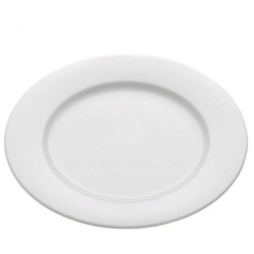 - basics round - talerz obiadowy z rantem, 27,50 cm marki Maxwell & williams
