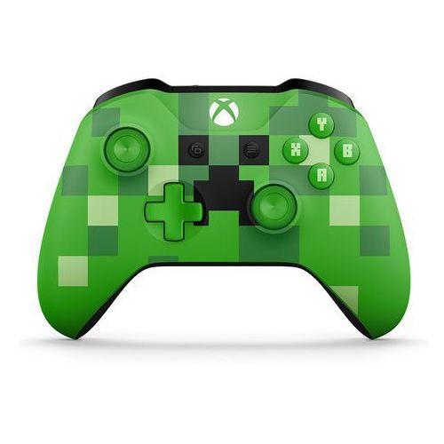 Microsoft Kontroler bezprzewodowy do konsoli xbox one - wersja limitowana minecraft creeper (zielony)