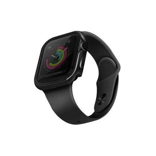 UNIQ etui Valencia Apple Watch Series 5/ 4 40MM szary/gunmetal grey - Szary (8886463671160)
