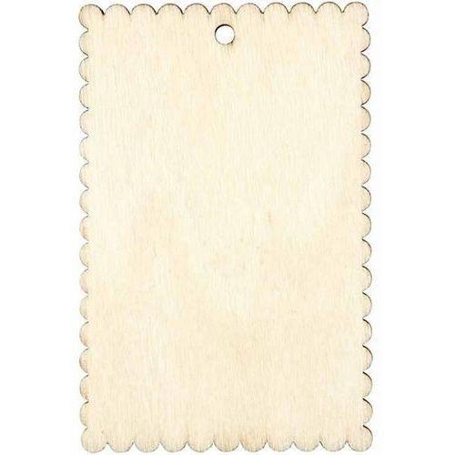 Drewniana tabliczka w kształcie herbatnika 8x5,1cm marki Creativ