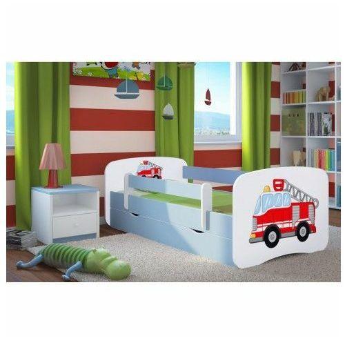 Łóżko dla chłopca z barierką happy 2x mix 70x140 - niebieskie marki Producent: elior