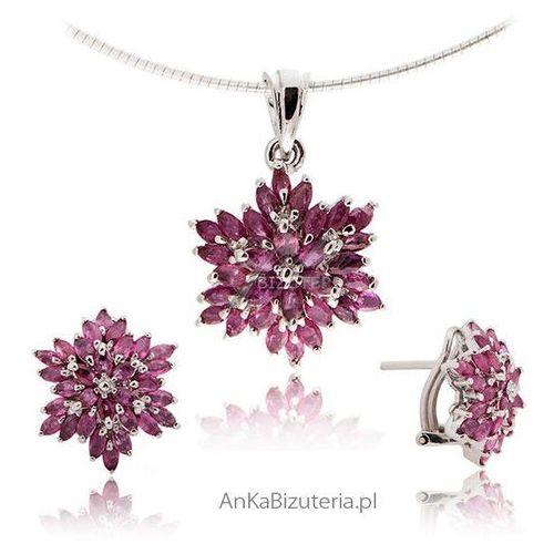 Anka biżuteria Biżuteria srebrna z kamieniami szlachetnymi: biżuteria z rubinem -certyfikat!