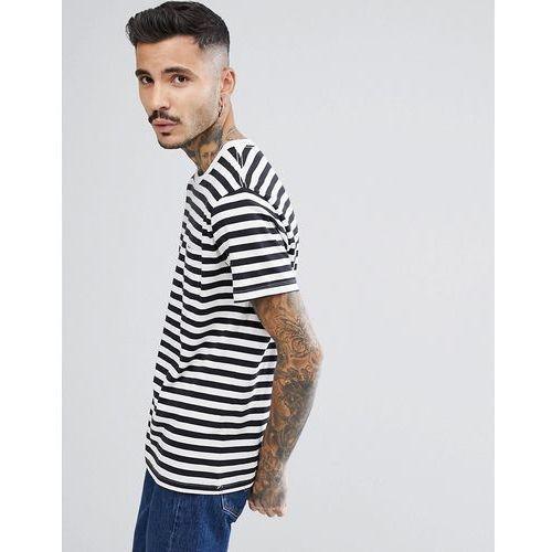 Levi's Sunset Pocket T-Shirt White Stripe - White, 1 rozmiar