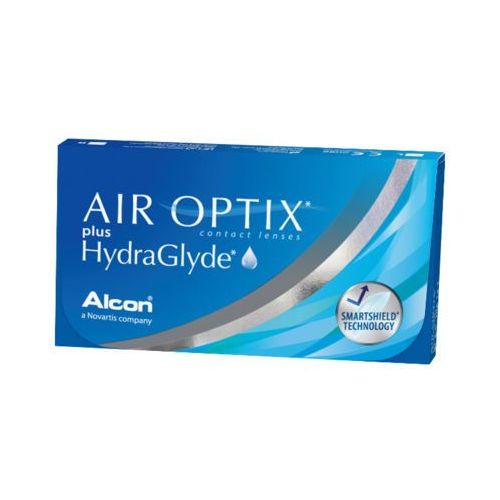 AIR OPTIX PLUS HYDRAGLYDE 6szt +4,5 Soczewki miesięczne
