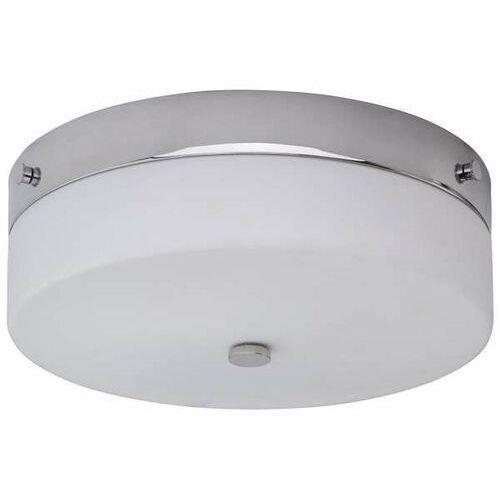 LAMPA sufitowa TAMAR/F/L PC Elstead okrągła OPRAWA szklany plafon do łazienki IP44 polerowany chrom biały, TAMAR/F/L PC