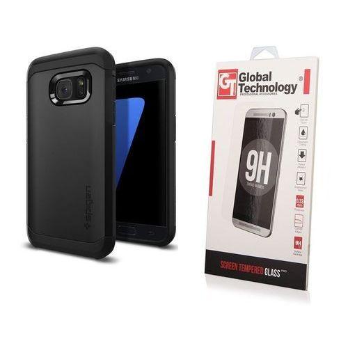 Zestaw | Etui Spigen SGP Tough Armor Black + Szkło ochronne Perfect Glass dla modelu Samsung Galaxy S7