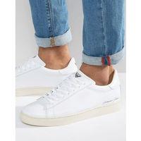 Armani Jeans Elastic Trainers in White - White