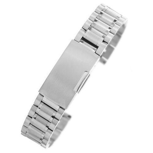 Srebrna stalowa bransoleta do zegarka SS2001- 20 mm